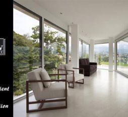 Aluminium Commercial Windows Energy Efficient & Noise Reduction