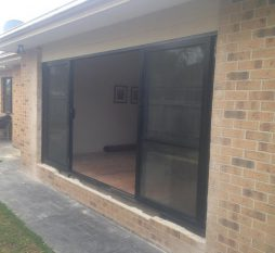 Aluminium Sliding Door 4 Panel Brickwork Removed