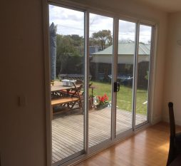 Aluminium Sliding Door 4 Panel Natural Anodised