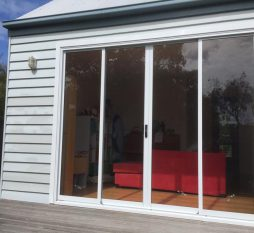 Aluminium Sliding Door 4 Panel White