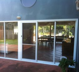 Aluminium Sliding Door And Awning Combination