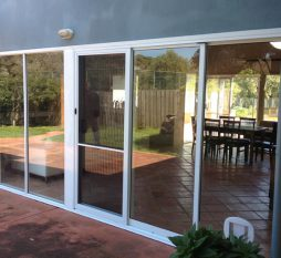 Aluminium Sliding Door And Awning Combination 1