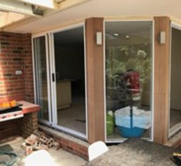 Aluminium Stacker Door Outside