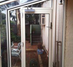 Commercial Aluminium Hooded Window Door Combination
