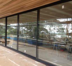 Commercial Aluminium Sliding Doors 4 Panel (during Construction)