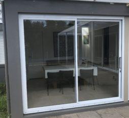 Commercial Aluminium Sliding Door 2 Panel White