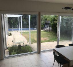 Commercial Aluminium Sliding Door 2 Panel White (inside)